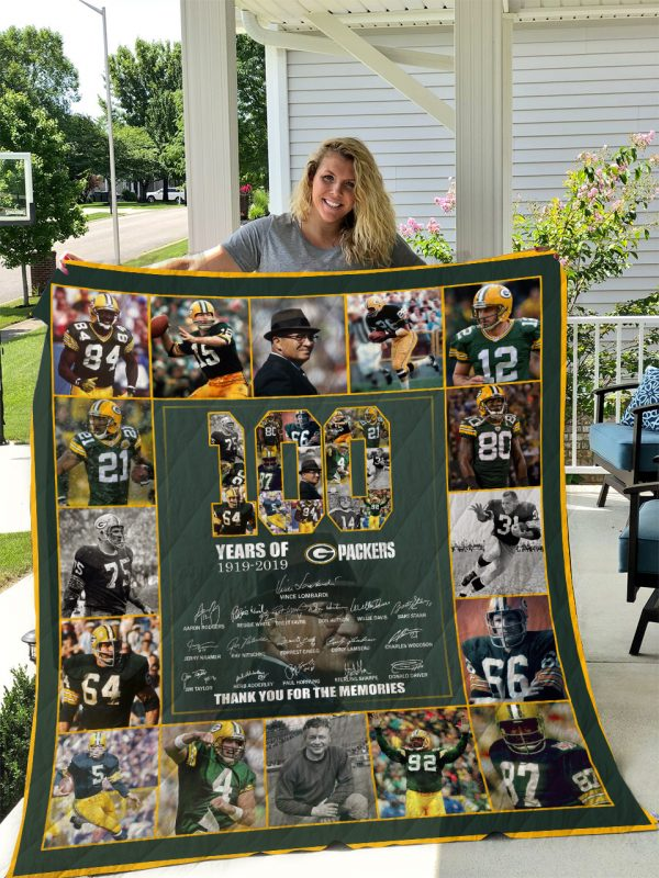 100th Green Bay Packers Quilt 3t020