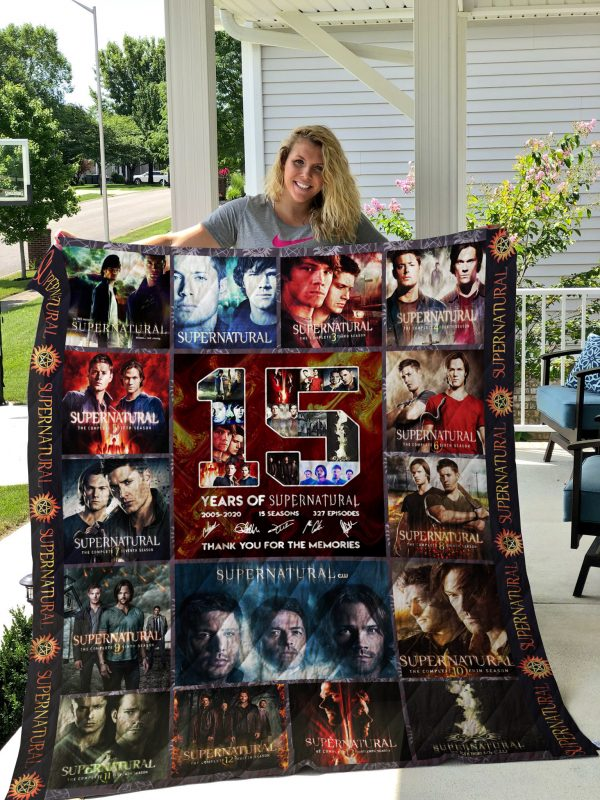 15 Years Of Supernatural Poster Quilt