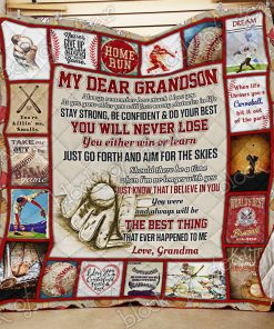 Baseball Grandson, Love Grandma Quilt Ps654