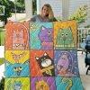 Cat-cool Cartoon Quilt Blanket