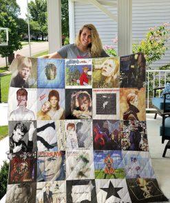 David Bowie Style 2 Quilt Blanket
