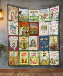 Laura Ingalls Wilder Books Quilt Blanket