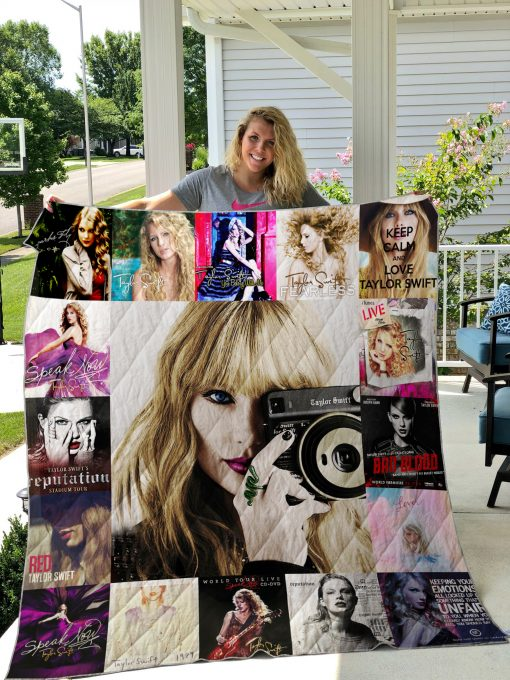 Taylor Swift Style 2 Quilt Blanket