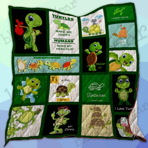 Turtles Make Me Happy Quilt Ss048