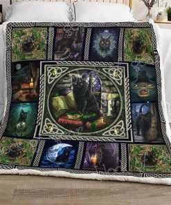 Wiccan Black Cat Sofa Blanket Thh1037