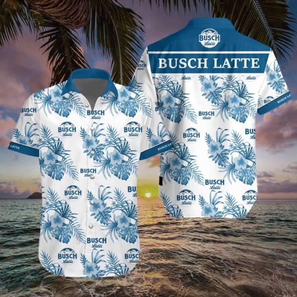 Busch Latte Hawaiian Shirt